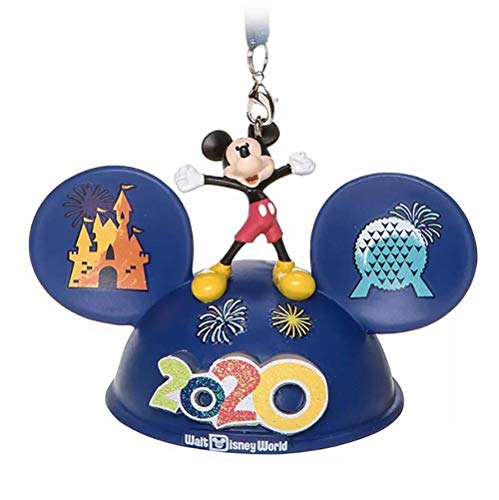 Parks Disney Light-Up Ear Hat Ornament -Mickey & Friends – Walt Disney World 2020 Logo