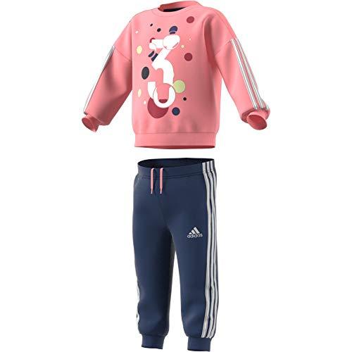 adidas Baby-Jungen I Sum Jogg Ft Sportset, Weiß (rosglo), 68 (3/6 Meses)