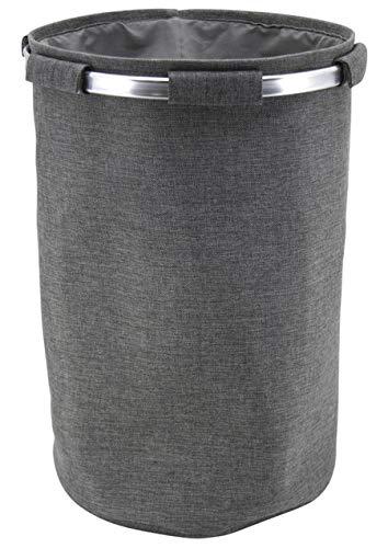 PEGANE Sac à pellets en tergal et Aluminium, Gris - Dim : Ø38 x H58 cm