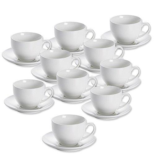 10er SET Teetasse mit Untertasse 14,5 cm von Maxwell & Williams
