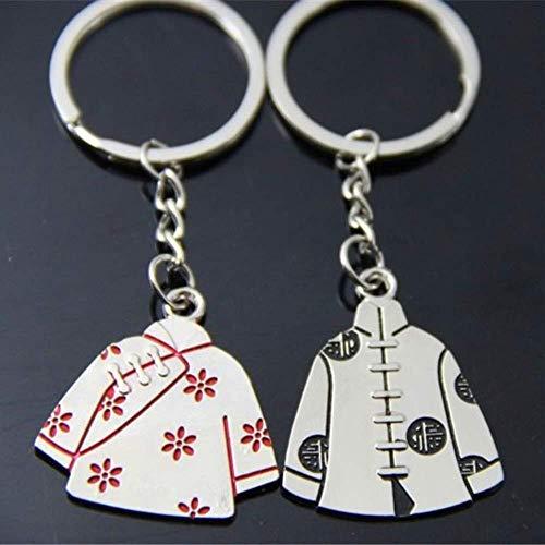 DdA8yonH Porte Clef Costume Chinois Tang Hommes et Femmes Couple Création publicitaire Trousseau Trousseau Pendentif Voiture de 2 pièces
