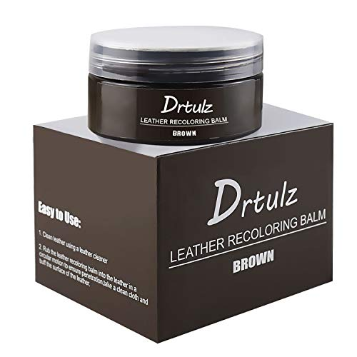 Leather Recoloring Balm, Leather Repair Kits for Recolor / Renew / Repair & Restore Aged / Faded / Cracked / Peeling and Scuffed Leather & Vinyl Sofa, Purse, Shoes, Auto Car Seats, Couch (Brown)