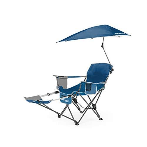 HYRL Chaise inclinable, Sport Portable Sun Shelter météo Parapluie Fauteuil inclinable Chaise Pliante, Chaise Pliante extérieur Fauteuil de pêche Chaise de Plage,Green