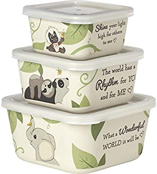 3-Piece Precious Moments Baby Animals Snack Containers