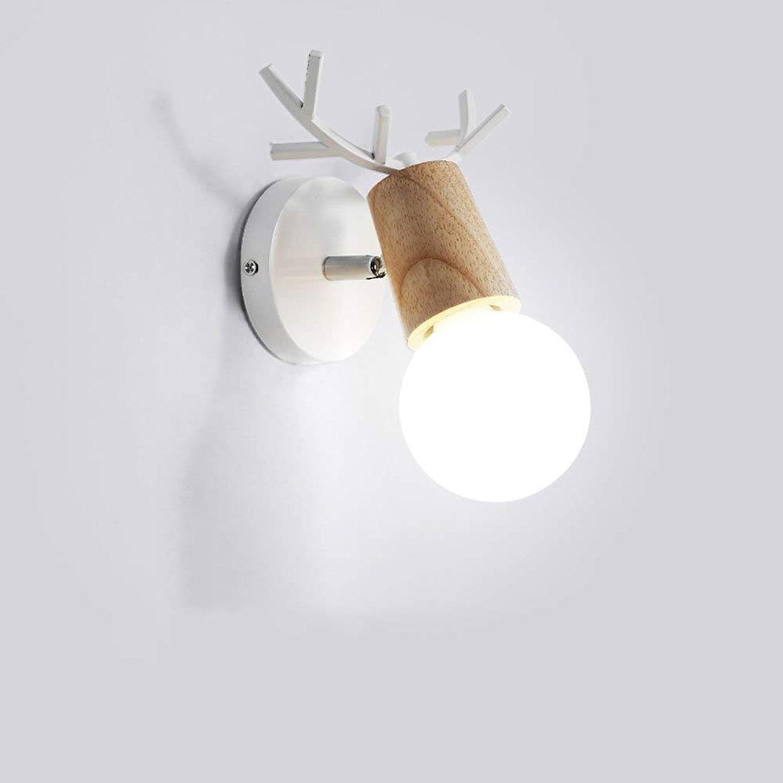 ventas al por mayor AtR Lámpara de Parojo de Madera del Cuervo Creativo Creativo Creativo para el Pasillo Escalera Iluminación del Pasillo Iluminación del Hierro Minimalista con Estilo Aplique de la lámpara Apliques E27 Wall Lantern  primera vez respuesta