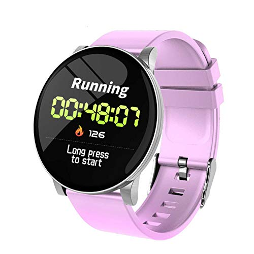Smartwatch,Fitness Armband Uhr Voller Touch Screen Fitness Uhr IP67 Wasserdicht Fitness Tracker Sportuhr Blutdruckmessgerät Herzfrequenz-Armband Silver Grey