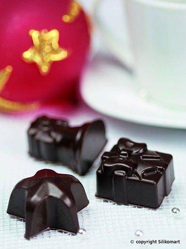 Silikomart Silicone Easy Chocolate Mold, Assorted, Christmas
