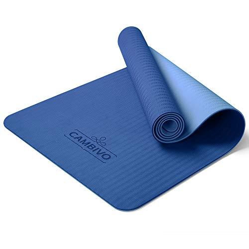 CAMBIVO Yogamatte rutschfest, Gymnastikmatte standard(173cm x 61cm x 6mm), Fitnessmatte, Sportmatte aus TPE für Reisen, Sport, Yoga, Pilates, Workout, Zuhause