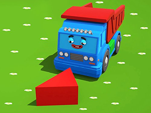 Farben lernen mit grosser Lasrwagen und seine Freunde