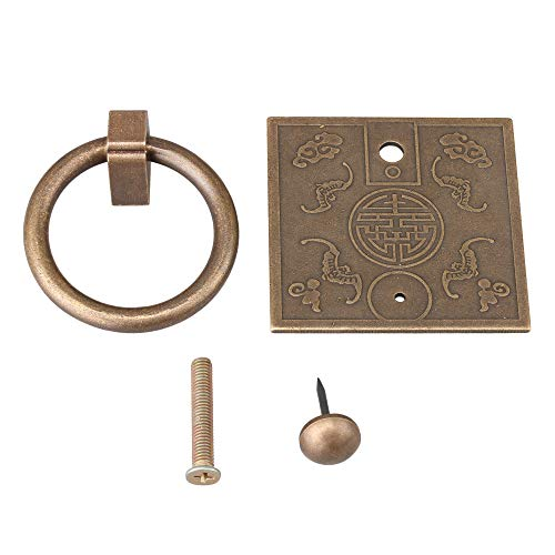 Mxfans Manijas cuadradas de 6 x 6 cm para cajón de bronce...