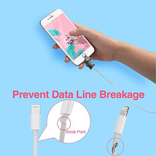 Aitsite kabelbruch Schutz Cable Animals Kabel Cable Biss Protector Saver Cute Tierform schützen verhindert Bruch für iPhone Cord (12-Packung)