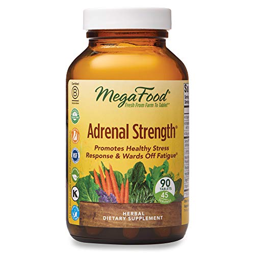 MegaFood, Adrenal Strength, Supports a Healthy Stress Response, Herbal Supplement, Gluten Free, Vegetarian, 90 tablets (45 servings)