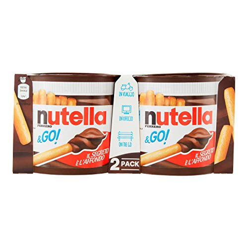 Nutella & Go Snack a Base di Crema da Spalmare, 2 x 48g