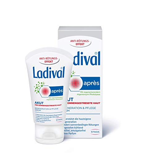 Ladival Akut Après Beruhigungs-Serum – Kühlendes After Sun Pflegeserum zur Hautregeneration nach dem Aufenthalt in der Sonne – 50 ml