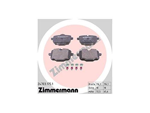 Zimmermann 24703.175.1 Remvoeringset, achter, 4 trilplaten