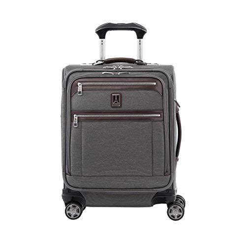 Travelpro Platinum Elite Maleta Cabina 4 Ruedas 55x40x20 cm Blanda, Expansible y Resistente con Puerto USB 39 litros Ruedas 360 Magnéticas Equipaje Viaje Avión Garantía 10 Años