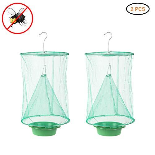 Ranch Fliegenfalle, Faltbare Fliegenfalle Flay Catcher, ungiftig, Futterköder, effektiver Outdoor hängende Fliegenfalle für drinnen, draußen, Familienfarmen, Park