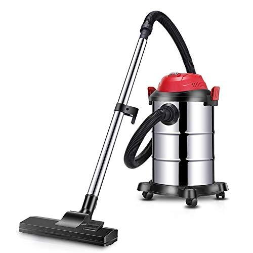 ZKAIAI Gran capacidad de limpiador de vacío del frasco.Seco y húmedo multiuso 20 kPa aspiradora industrial, 15L-15L Plata (color: plata, tamaño: 15L) Gran Succión