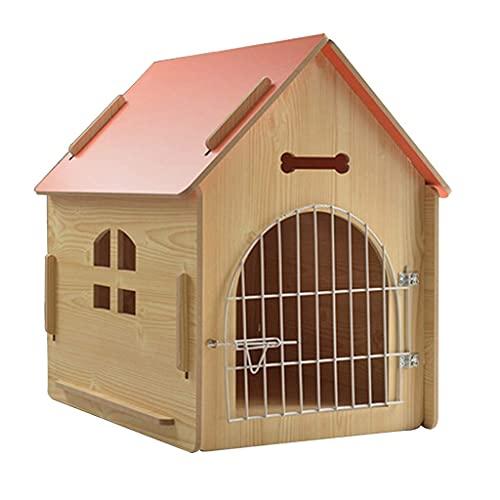 Casa para Perros y Gatos para Interiores al Aire Libre con Ventanas de Puertas Cabina de Troncos para Mascotas Perrera Muebles para Mascotas para el hogar pequeños, medianos, Grandes (Color: Gris, t