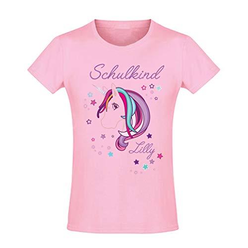 Mein Zwergenland T-Shirt tailliert Mädchen Schulanfang Schulkind 2020 Einhorn Beauty, rosa Gr. 10 Jahre (130-140)