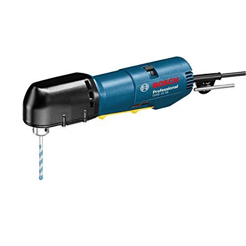 Bosch Professional Winkelbohrmaschine GWB 10 RE (400 W Nennaufnahmeleistung, 22 mm Bohr-Ø Holz, 10 mm Bohr-Ø Stahl, Zahnkranzbohrfutter 10 mm (eingebaut), im Karton)