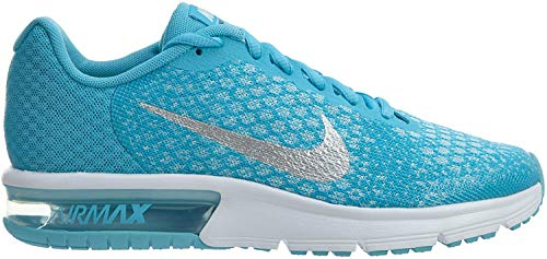 Nike Niñas Air MAX Sequent 2 GS Zapatos de Gimnasia Azul Size: 36.5