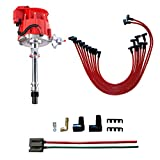 MAS Performance Hei Distributor & Spark Plug Wires & FREE Pigtail Wire Harness Combo Kit Compatible with Chevy/gm SBC BBC Small Block/big Block 65k coil 7500RPM 350 454 302 V8 PC6001A JM6500R PE350R