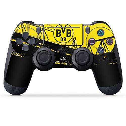DeinDesign Skin kompatibel mit Sony Playstation 4 PS4 Slim Controller Folie Sticker Borussia Dortmund BVB Fanartikel
