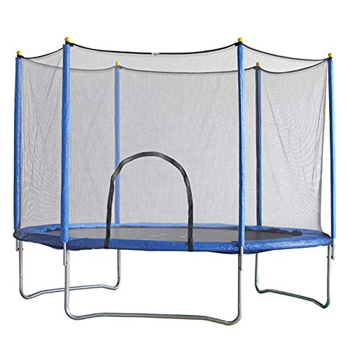 WBXZAL Garden Trampoline 244 To 305 CM, Children Trampoline, Including Safety Net and Ladder, Blue Outdoor Trampoline, Sturdy and Waterproof, Load-Bearing 150KG-305CM
