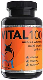Dioxyme Vital100 - Daily Multivitamin and Mineral Complex with Iron- Pharmaceutical Grade Vitamins and Minerals for Men and Women (Prenatal) - Non GMO, Vegan (60 Vegetable Capsules)