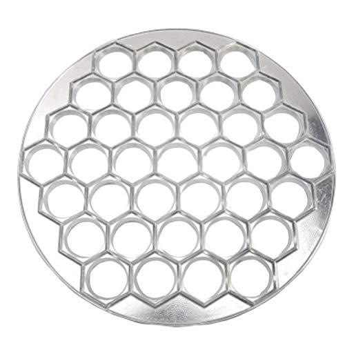 Tongdejing Moldes de bolas de aluminio para hacer ravioli Maker, 37 orificios, forma de bola, pelmeni, herramienta de cocina multifuncional