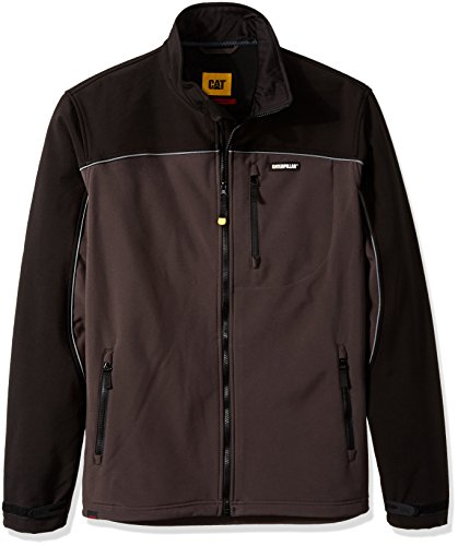 Caterpillar Herren Big and Tall Soft Shell Jacket Arbeitsoberkleidung, Graphit/Schwarz, XL (Hoch)