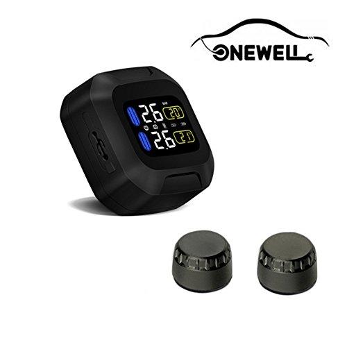 ONEWELL TPMS Impermeable Flash Proof General Wireless Motorrad Tire Pressure Monitoring Sistema para Dos Ruedas Motorrad