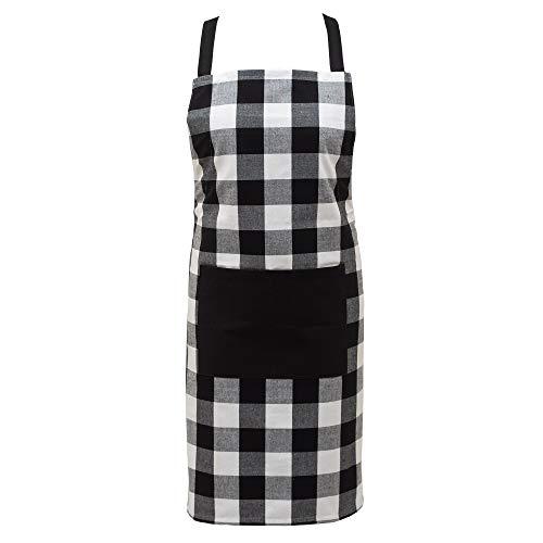 Asquare Kochschürze 65x85cm - Atmungsaktive Schürze 100% Baumwolle - Verstellbare Küchenschürze mit 2 großen Taschen - Cooking Apron - Grillschürze für Damen und Herren