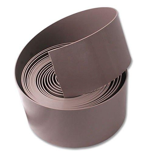 Bordure de pelouse ou potager - Coloris : marron - Épaisseur : 1 mm - Hauteur : 10 cm - De qualité professionnelle - Pas de tôle d'acier 100 Meter