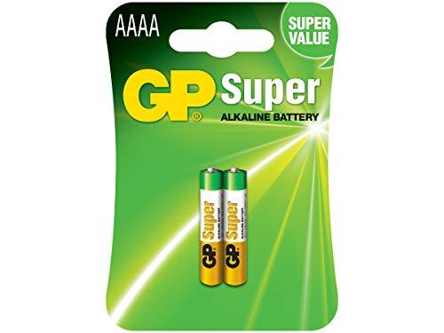 GP Super Alkaline AAAA, Pillas Cilíndricas, 1.5V, Multicolor, 2 Unidades