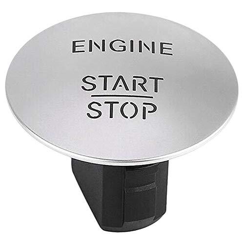 binbin Ajuste para Mercedes-Benz Push to Start Button sin llavero Ir del motor Start STOP PUSH BOTÓN (Color : Silver)
