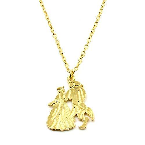 YUNMENG Collar de Boda de San Valentín Joyas La Bella y la...