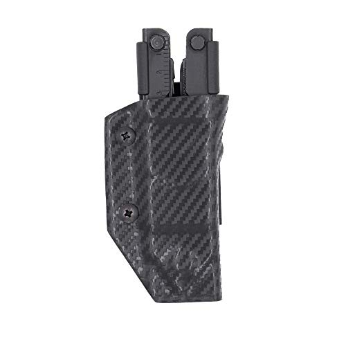 Clip & Carry Kydex Multitool Sheath for GERBER MP600 ~Fits bluntnose & needlenose models~ Made in USA (Multi-tool not included) Multi Tool Holder Holster (Carbon Fiber Black)