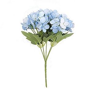 Superper Artificial Hydrangea Silk Flower Faux Plastic Greenery Shrubs DIY Wedding Party Desktop Home Decoration Gift Blue