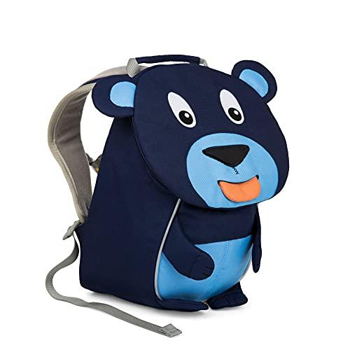 Affenzahn Kleiner Freund - Kindergartenrucksack für 1-3 Jährige Kinder im Kindergarten und Kinderrucksack für die Kita - Bär - Blau