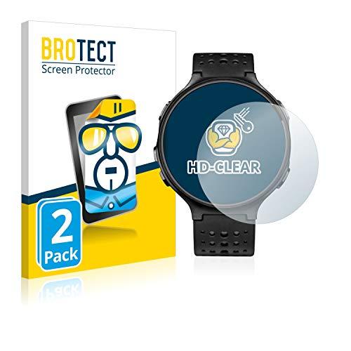 BROTECT Schutzfolie kompatibel mit Garmin Forerunner 235 (2 Stück) klare Displayschutz-Folie