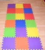 alfombra puzzle para bebe, proteccion del suelo de la habitacion niños y niñas 18pcs 90x182 / 32cm cada pieza