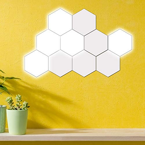 Diy Luces de decoración de pared Innovadora forma hexagonal Mood Night Light Lámpara de...