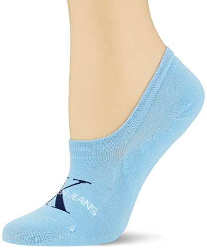 Calvin Klein Women Liner 1p Jeans Logo Brooklyn Calcetines, azul claro, Talla única para Mujer