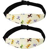 TouGod 2 piezas cinturón de sujeción para la cabeza del niño, diadema para el automóvil para niños, cinturón de seguridad para el automóvil ajustable para bebés