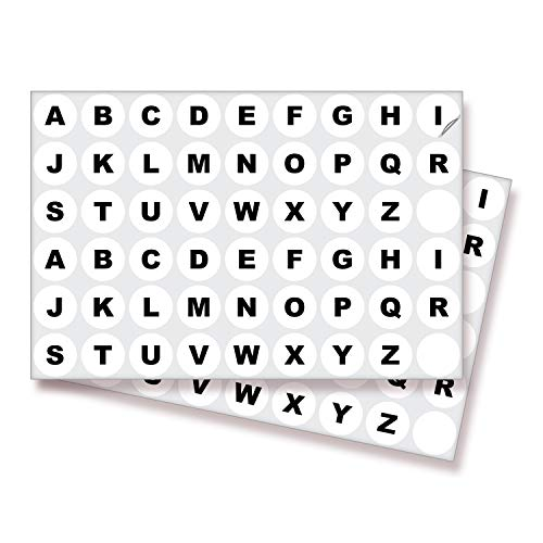 White Vinyl Letters Stickers - 4 Sets, 1 inch Self-Adhesive, A to Z - Premium Decal for Indoor & Outdoor, Ideal for Inventory, Storage, Organizing, Alphabet for Boxes, Bins, Toolbox, Lockers & More