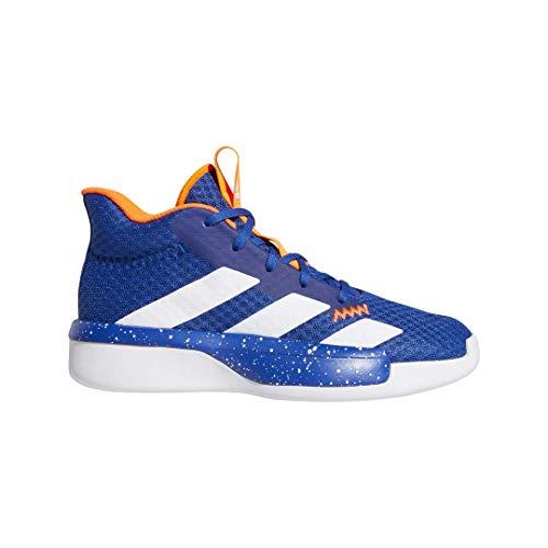 adidas Unisex-Kid's Pro Next Basketball Shoe, Blue/Active Gold/White, 4 M US Big Kid