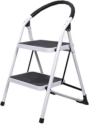 QX IAIZI opstapkruk, 2 treden, ladder met leuning van metaal