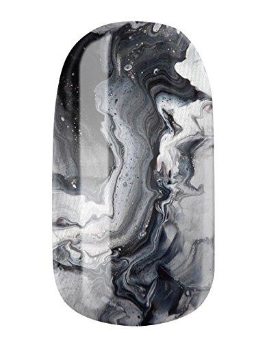 GLAMSTRIPES - Foil per unghie, modello 'Black hazard'
